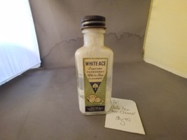 "4 1/4"" Vintage White Ace Supreme Permanent White Shoe Cleaner Bottle  - $5.00"