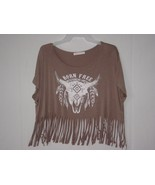 Neonsky women's top with tassel's Brown Size small - $4.99