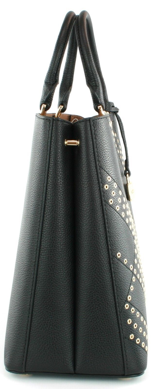 Michael Kors Adele Black Leather Shoulder Bag Handbag RRP £345