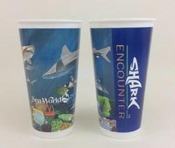 Seaworld Shark Encounter McDonalds Promo Cup Lot of 2 Vintage 90s - $12.82