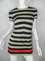DVF Diane Von Furstenberg Dress Black Beige Stripe Yazmine Size 0 - $37.22