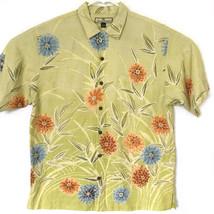 Tommy Bahama Mens Hawaiian Silk Shirt Size M Short Sleeve Tropical Design - $31.33