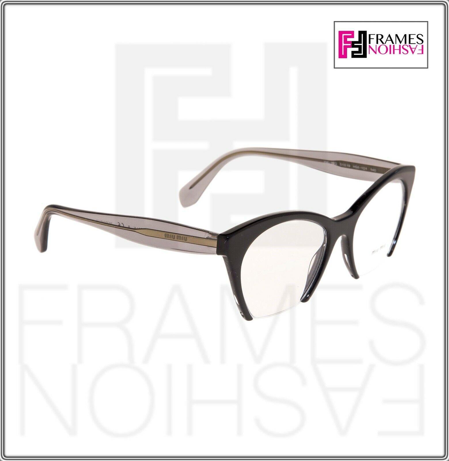 MIU MIU RASOIR MU03QV Eyeglasses Optical Frame Black Grey Translucent 51mm 03Q image 5