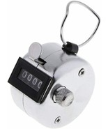 4 Digit Number Dual Clicker Golf Hand Tally Counter all metal Handy Conv... - $7.91