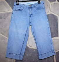 KIM ROGERS Women's Size 8P Stretch Capri/Cropped Jeans/Denim Embellished... - $15.47