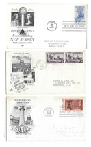 3 FDCs Sc# 955 957 1247 Mississippi New Jersey Wisconsin Statehood First... - $6.69
