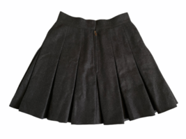 Dolce & Gabbana Charcoal Women Wool Lined Pleated Skirt Made in Italy  Sz 38 image 4