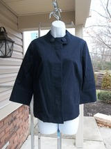 NWT TALBOTS BLACK CASUAL CHEF STYLE JACKET PM - $24.99