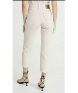 Levi's Wedgie Straight in Pink Acid Wash High Rise Jeans 34x26  Premium ... - $37.62