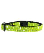 Retro Nylon Ribbon Collar Lime Green Cat Safety - $6.80