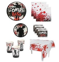 Zombie Bash Party Supplies Pack for 16 Guests Including: Large Plates, S... - $33.66