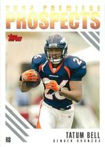 2004 Topps Premiere Prospects Card PP20 Tatum Bell Broncos - $0.94