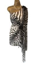Forever Unique Black & White One Shoulder Mini Dress UK 8 - $105.14