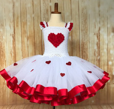 Valentines Day Tutu, Red Heart Tutu, Cupid Tutu Dress - $60.00+