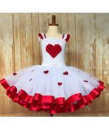 Valentines Day Tutu, Red Heart Tutu, Cupid Tutu Dress - $60.00+