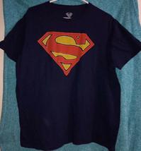 DC Comics Superman Men's Blue Dri Fit Emblem Short Sleeve T Shirt Size L... - £6.84 GBP