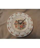 The Bunnykins Teaching Clock China Wall Clock Royal Doulton - $29.70