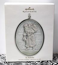ST. NICHOLAS Glass & Metal Hallmark Christmas Keepsake Ornament Traditio... - $14.80