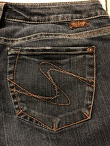Silver Jeans Women's Blue Denim Santorini Crop Stretch Size 29 X 25 - $29.69