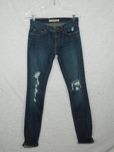 J Brand Jeans Low Rise Pencil Leg Women's Distressed Destroyed Torn Dark... - $20.32