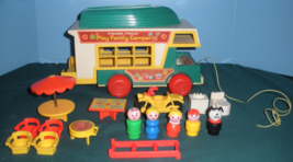 Vintage Fisher Price Play Family #994 Camper Comp. with ALL PLASTIC LP/EXC (I - $100.00