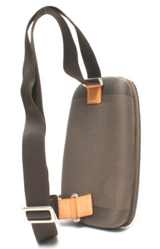 Auth Louis Vuitton Shoulder Bag Grey Fabric Logo Zipper Inner pocket LVB0576