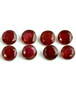 Natural Ruby 3mm Round Faceted Cut 25 Pieces Red Pink Color Loose Gemsto... - $94.29