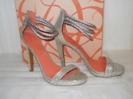 Via Spiga New Womens Penelope Silver Glitter Heels 8.5 M Shoes NWB - $107.91