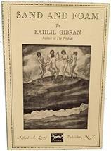 Sand and Foam: A Book of Aphorisms [Hardcover] [Jan 01, 1969] gibran, ka... - $6.90