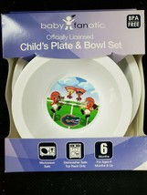 Baby Fanatic NFL Infant Plate & Bowl Set University of Florida NEW - $11.65