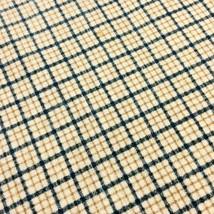 Small Check Plaid Flannel Fabric Blue Khaki Tan on Ivory by Fabric Tradi... - $3.80