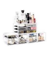 DreamGenius Makeup Organizer 4 Pieces Acrylic Jewelry and Cosmetic Storage - $44.42
