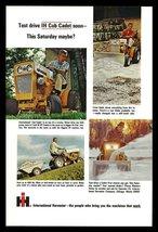 IH Cub Cadet Tractor Riding Lawnmower 1965 Lawn Care AD International Harvester - $10.99
