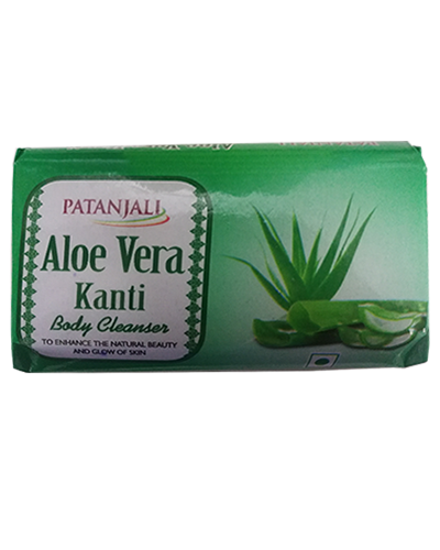 PATANJALI ALOE VERA KANTI BODY CLEANSER SOAP BAR- 100gm X 4 (400gm)