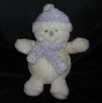 "11 "" Commonwealth Meltin Snowman Bianco Viola Natale Peluche Peluche - $21.87"