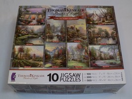 Thomas Kinkade 10 Jigsaw Puzzle Set NOT Counted AS IS Ceaco Collector's Edition - $49.99