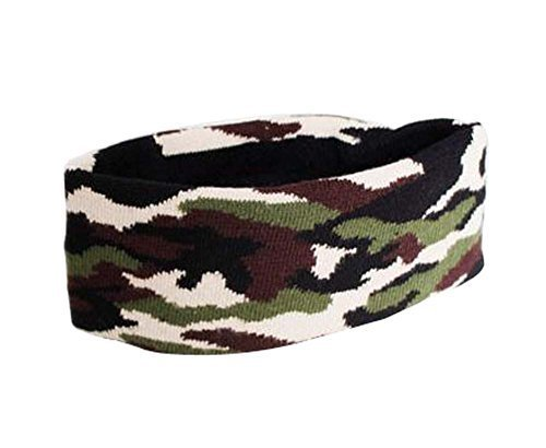 Camouflage Pattern Sports Yoga Hair Band Soft Cotton Thread Headband