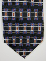 NEW Robert Talbott Studio Black & Orange Silk Tie Handmade USA - $22.43
