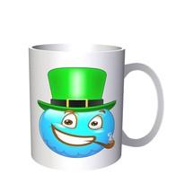 Smiley St Patric's Day Face Novelty Funny Vintage Art  11oz Mug a212 - $10.83