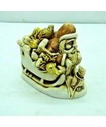 Harmony Kingdom Trinket Box Santa Sleigh Nick of Time 1996 Peter Calvesbert - $74.22