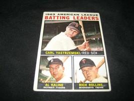 1964 Topps AL Batting Leaders  #8 Baseball card Al Kaline Carl Yastrzemski - $59.39