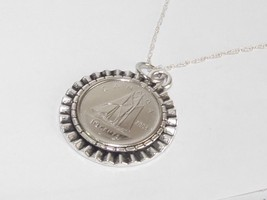 Gear Pendant 1975 Canadian Dime 43rd Birthday + 18 inch Sterling Silver Chain - $17.47