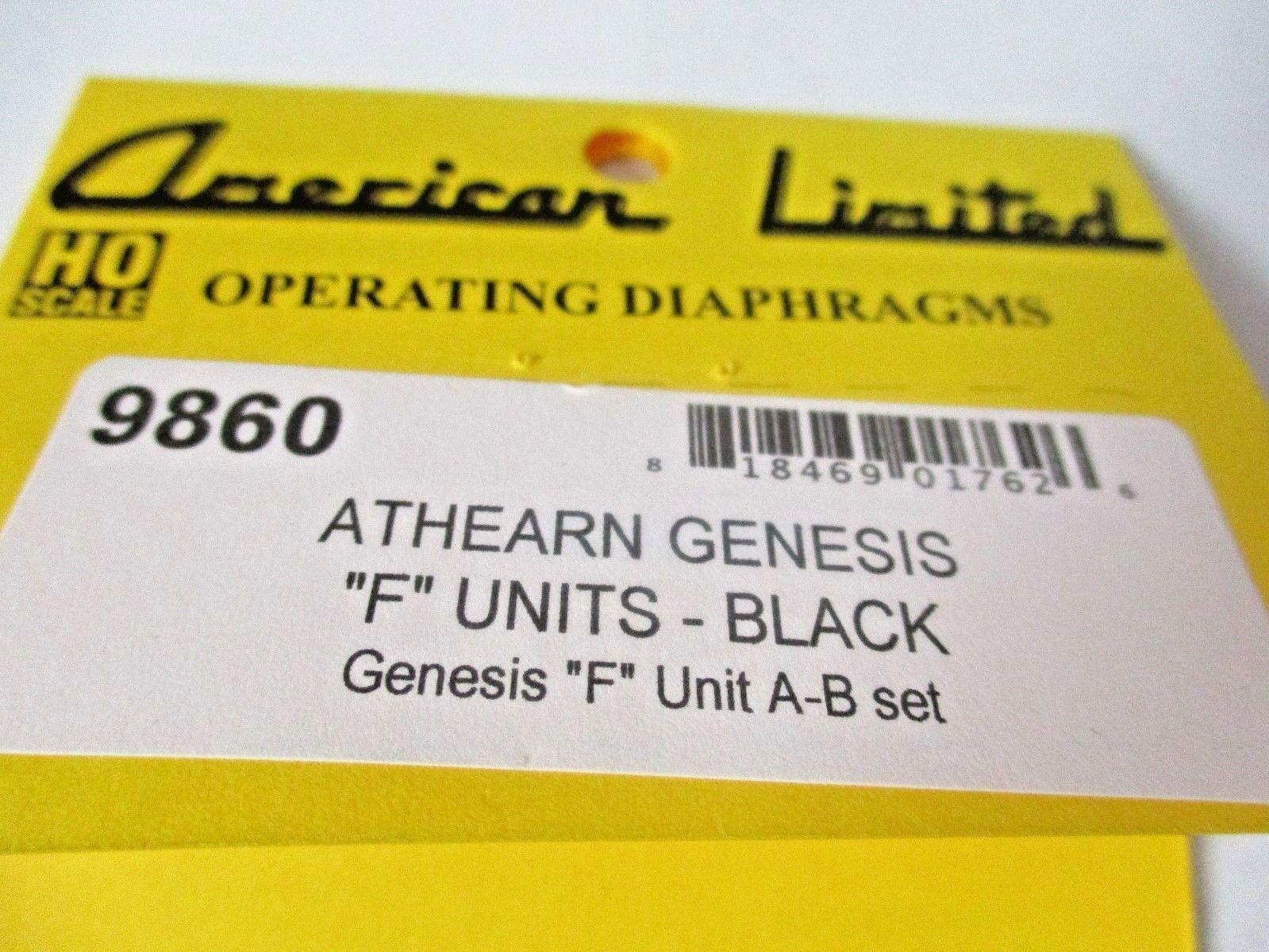 "American Limited # 9860 Athearn Genesis ""F"" Units-Black Diaphragms A-B Set (HO)"