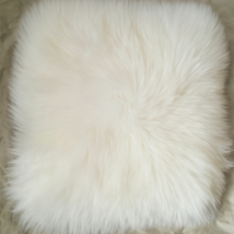 White Super Faux Sheepskin Fur Cushion Cover Home Decor Sheepskin Pillow... - $18.80+