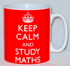 Keep Calm And Study Maths Mug Can Personalise Great Student University G... - $11.84