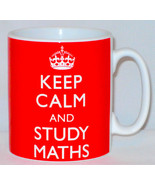 Keep Calm And Study Maths Mug Can Personalise Great Student University G... - $11.64