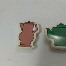 Vintage Refrigerator Magnets Pitcher Teapot Coffee Decanter Tea Pot - $10.30