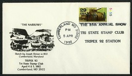 Tri-State Stamp Club 25th Annual Show, 4/5/92 **ANY 4=FREE SHIPPING** - $1.00