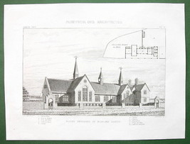 ARCHITECTURE PRINT : ENGLAND Primary School at Morlake Perspective View - $12.60