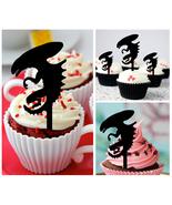 Ca167 Decorations cupcake toppers Predator vs Alien silhouette Package :... - $10.00